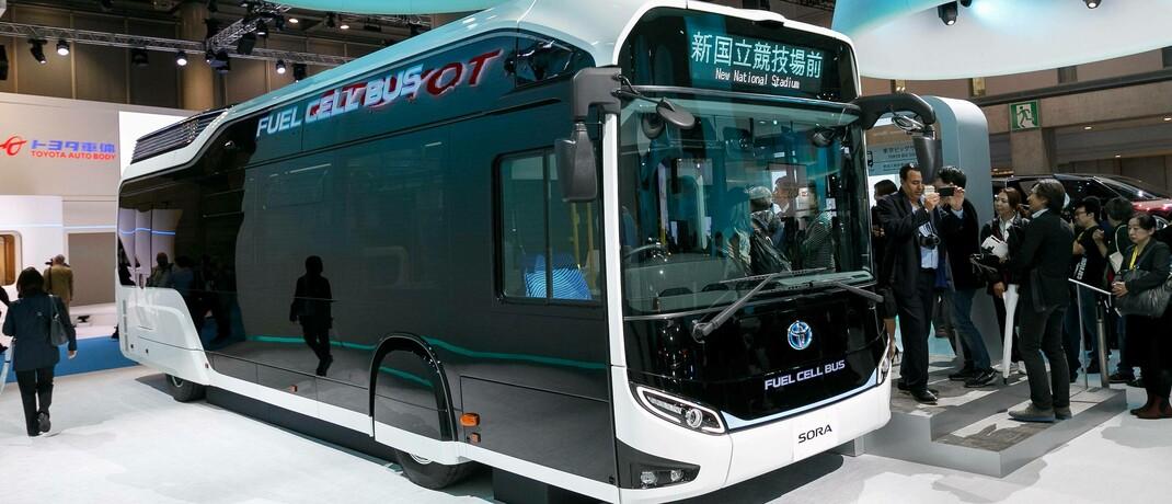 Wasserstoffbetriebener Bus Sora: Die Jupiter-Fondsmanager Dan Carter und Mitesh Patel glauben an Toyotas Erfindergeist