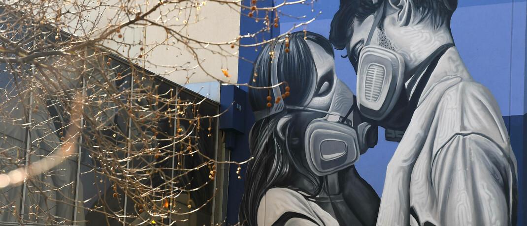 Straßenkunst-Gemälde im australischen Melbourne