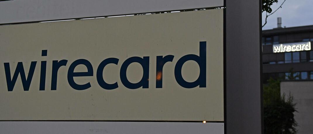 Firmenschild der Wirecard-Zentrale in Aschheim bei München