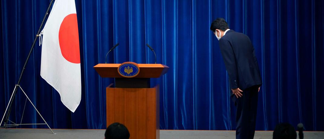 Der japanische Premierminister Shinzo Abe tritt zurück: Seinem Nachfolger hinterlässt er eine herausfordernde politische Agenda. © imago images / ZUMA Wire