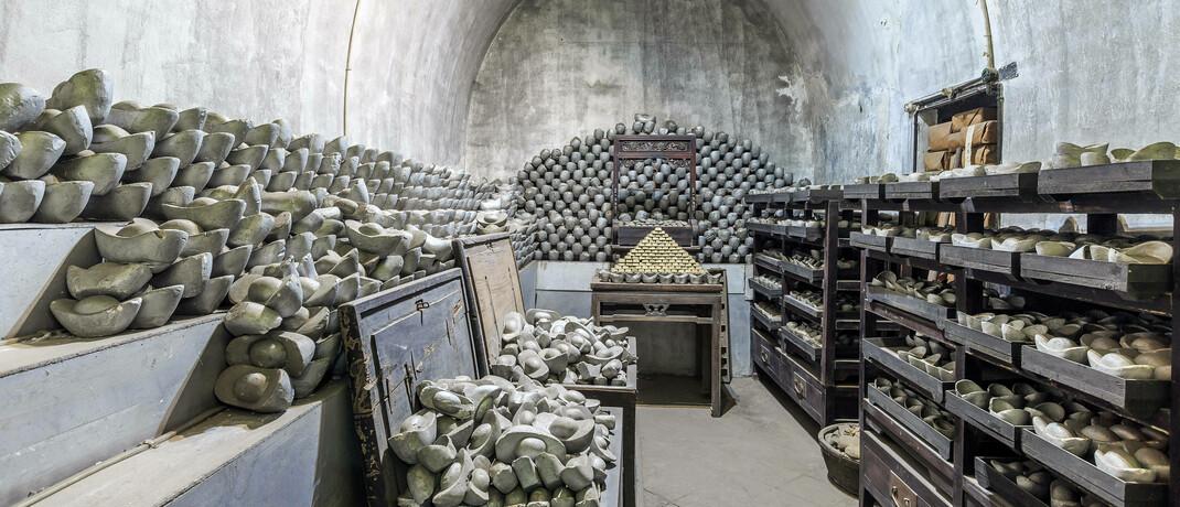 Unterirdisches Silber-Lager im chinesischen Pingyao: Neben Gold ist aktuell auch Silber eine lohnenswerte Geldanlage, sagt Edelmetall-Profi Christian Brenner. © imago images / Imaginechina-Tuchong