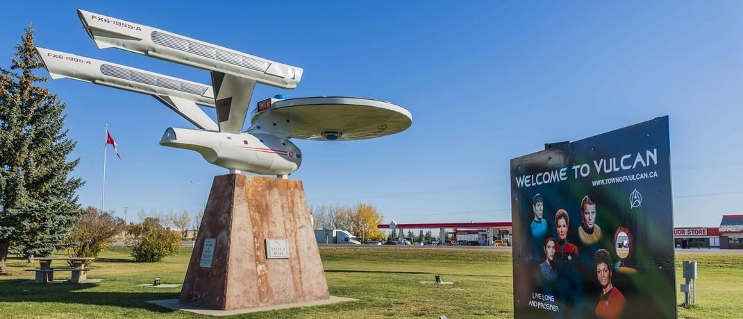 Modell des Raumschiffs Enterprise