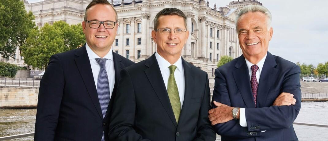 AfW-Vorstände Frank Rottenbacher, Norman Wirth und Matthias Wiegel (v. li.)