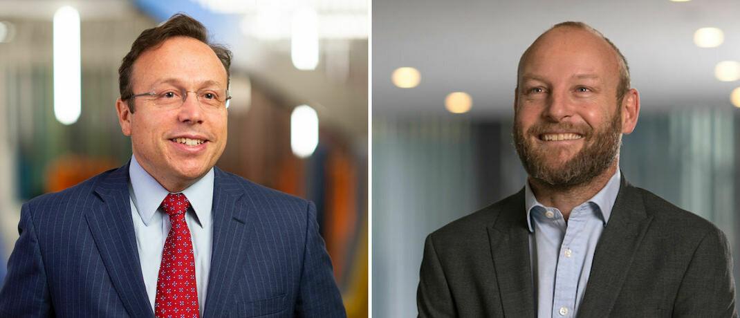 Portfoliomanager Jaime Ramos Martin (links) und Klimawandel-Spezialist Rick Stathers: Neuer Fonds von Aviva