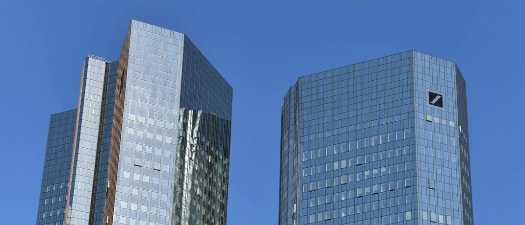 Zwillingstürme der Deutschen Bank in Frankfurt