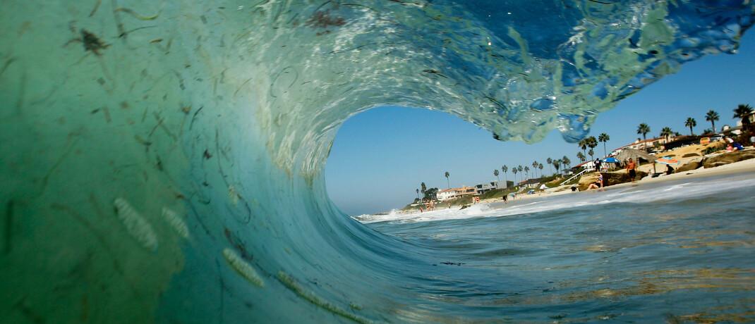 Welle vor dem Strand
