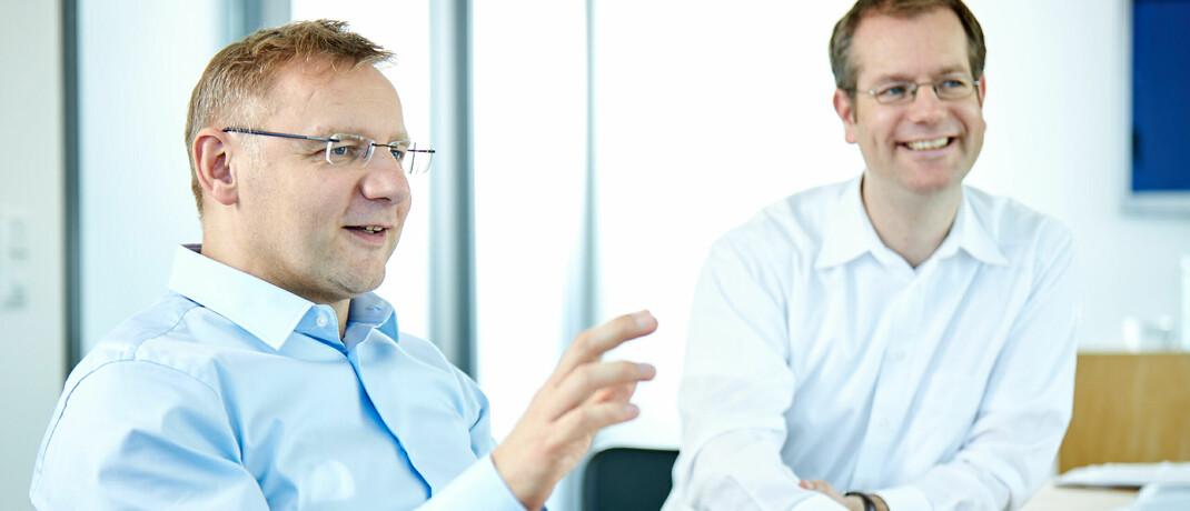 Sauren-Gründer Eckhard Sauren (links) und Sauren-Research-Vorstand Michael Viehmann