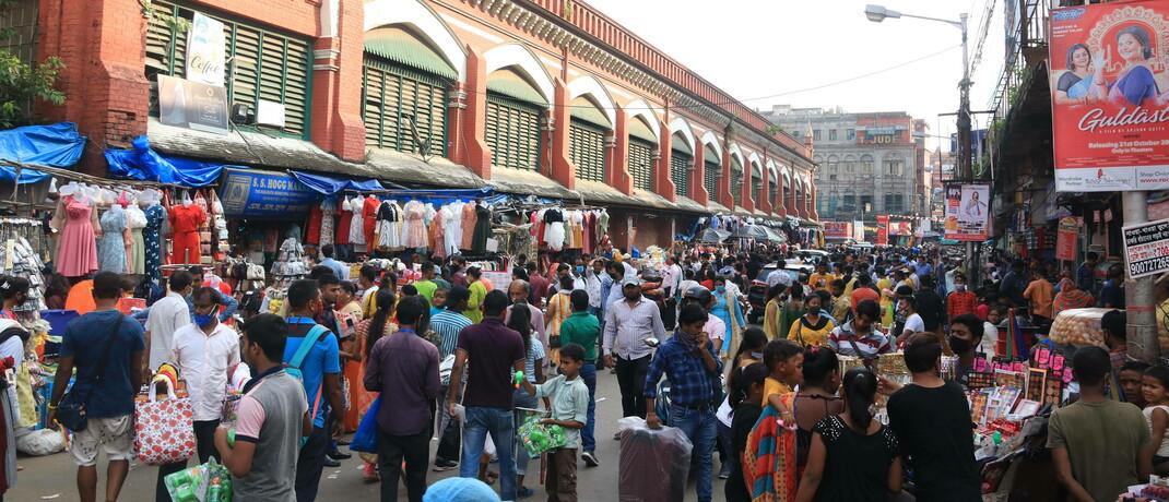 Straßenszene in Kalkutta