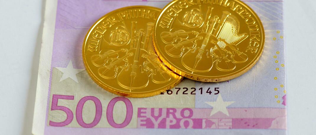 Zwei Goldmünzen im Gesamtwert von 3.300 Euro