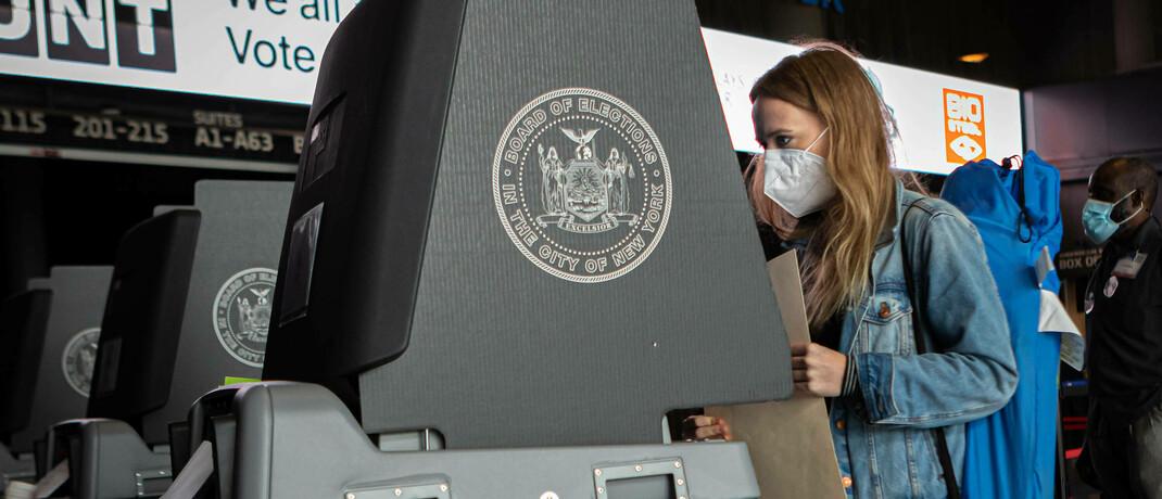 Start der US-Wahlen in New York