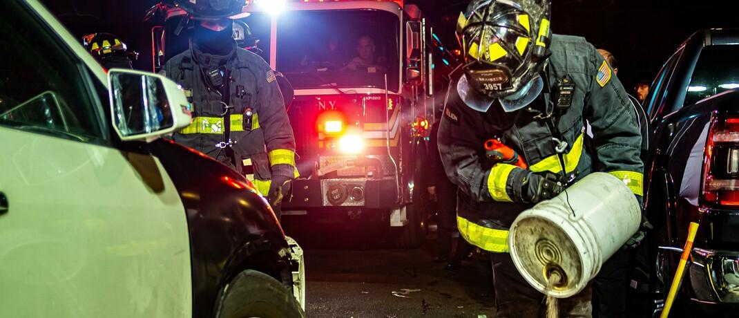 Feuerwehreinsatz bei einem Unfall