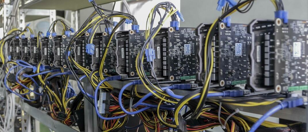 Rechner des Mining-Pools Digger schürfen Ethereum