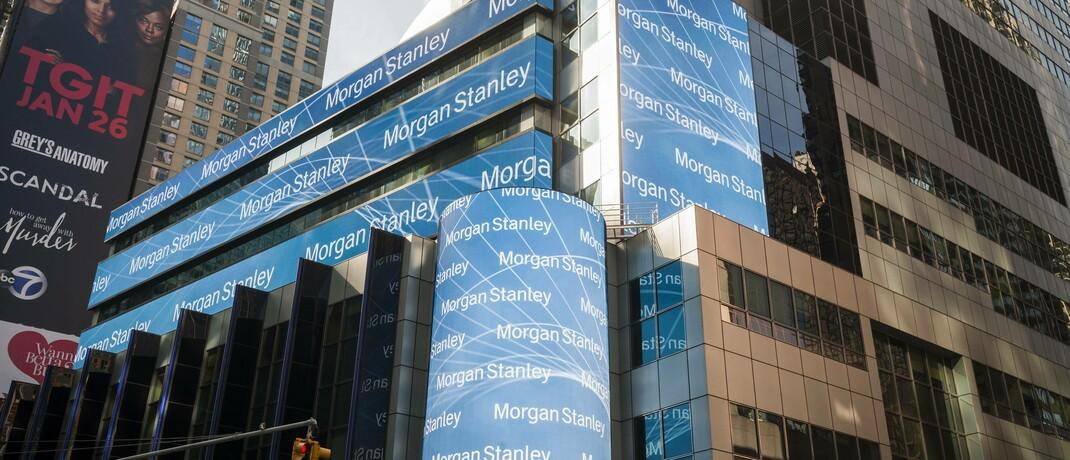 Sitz von Morgan Stanley in New York