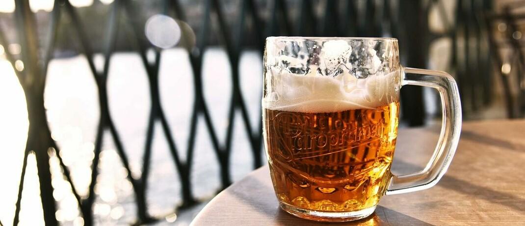 Bierglas im Freien