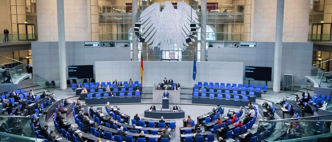 Eine Bundestagsitzung im Plenarsaal