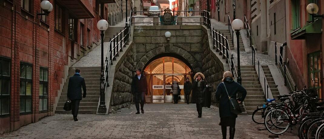 Der Brunkeberg-Tunnel in Stockholm