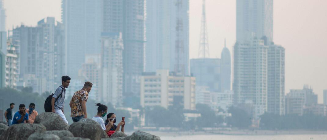 Skyline von Mumbai, Indien