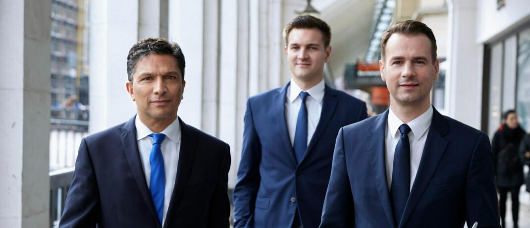 Vermögensverwalter Alexander Daniels, Felix Kraft, Christian Gritzka (v.l.n.r.)