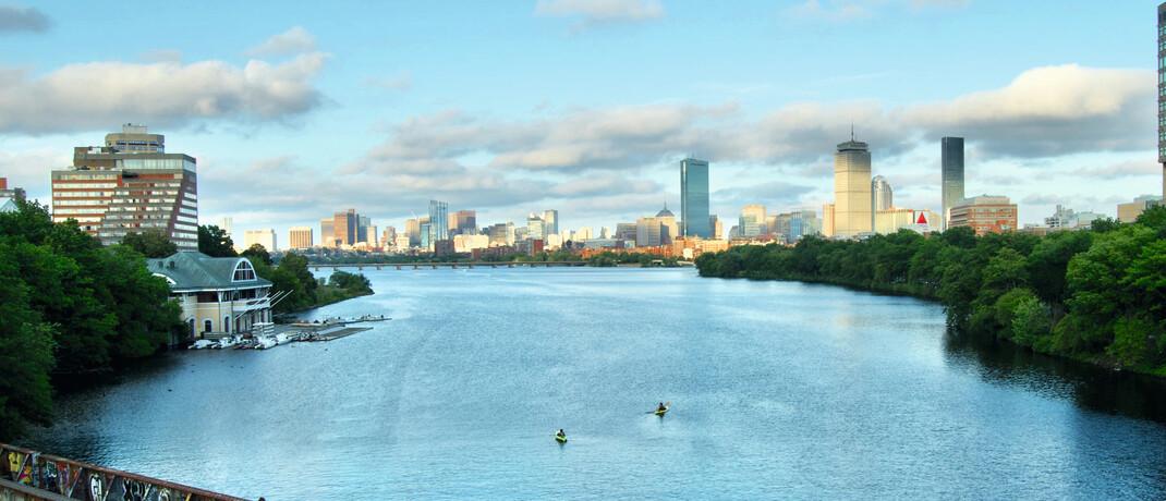 Blick auf die Skyline von Boston