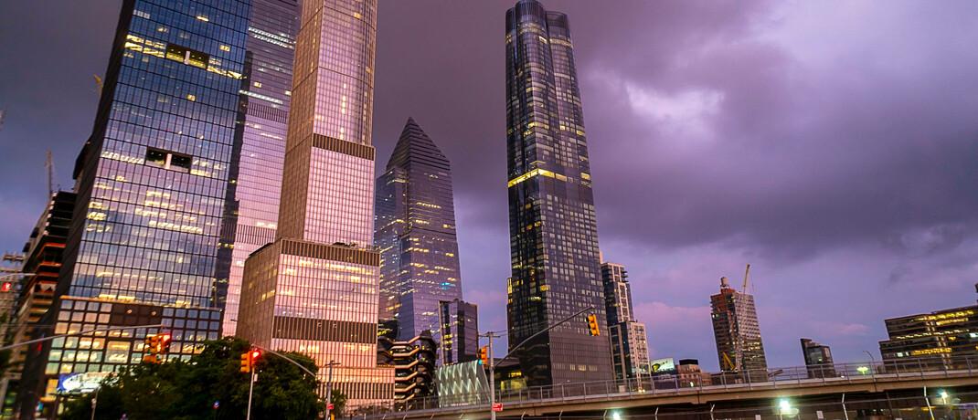 Leere Straßen und fast leere Büros in New York