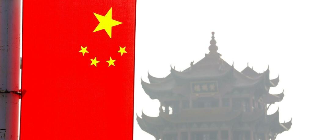 Flagge in Wuhan