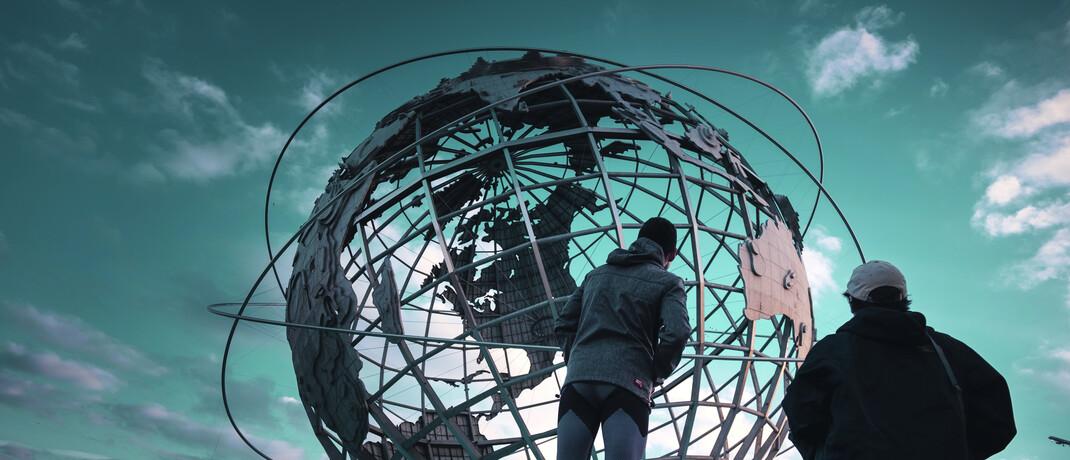 Erdkugel-Skulptur in Flushing Meadows, New York