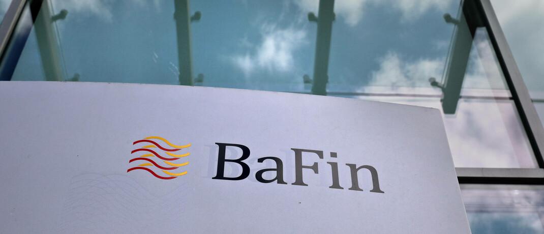 Logo der Bafin am Sitz der Finanzaufsicht in Frankfurt