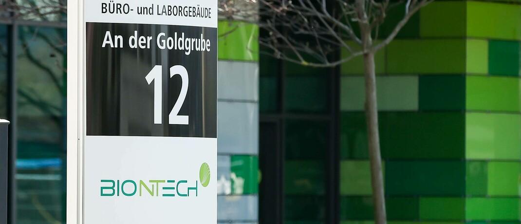 Firmengebäude von Biontech in Mainz