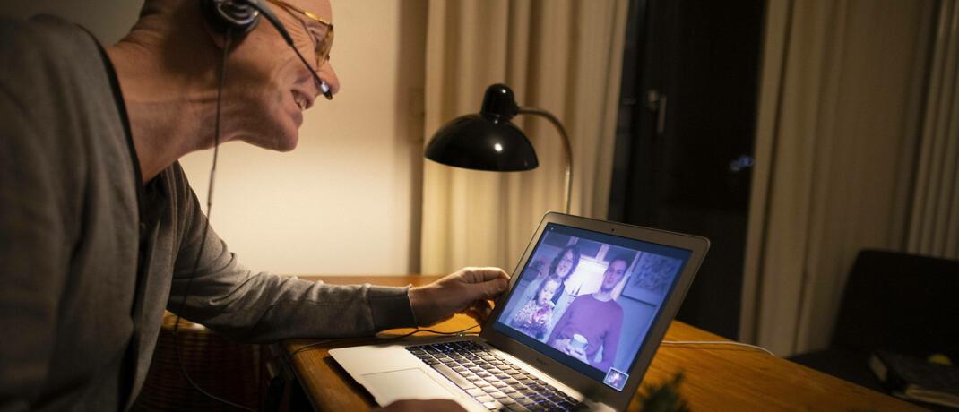 Video-Kommunikation mit der Familie