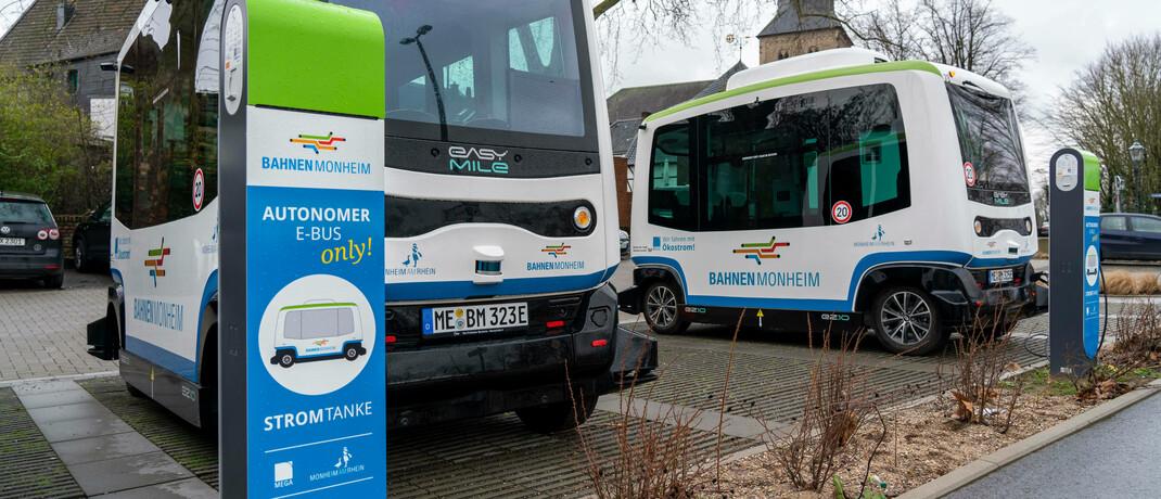 Autonom fahrende E-Busse in Monheim