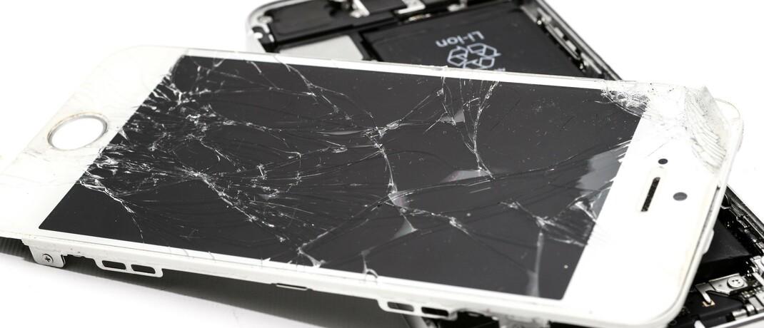 Ein kaputtes iPhone