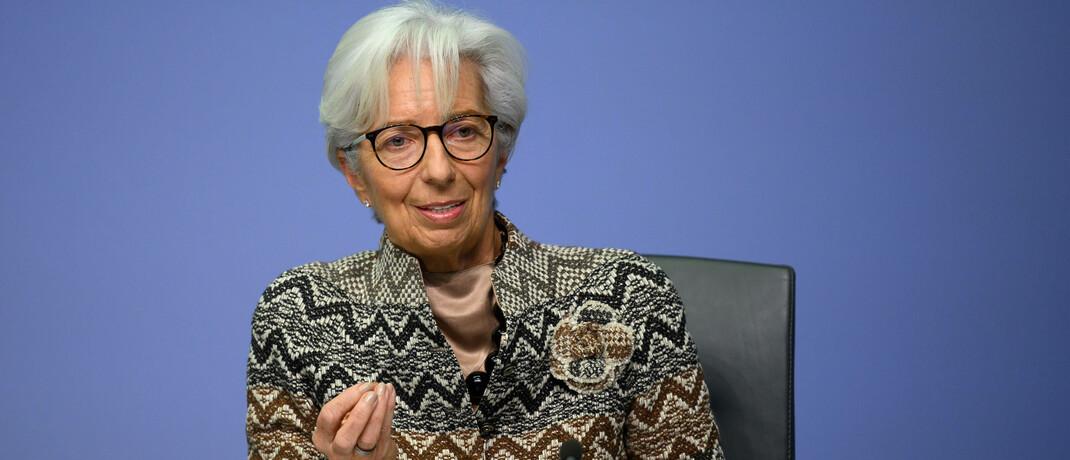 EZB-Chefin Christine Lagarde am 10. Dezember 2020