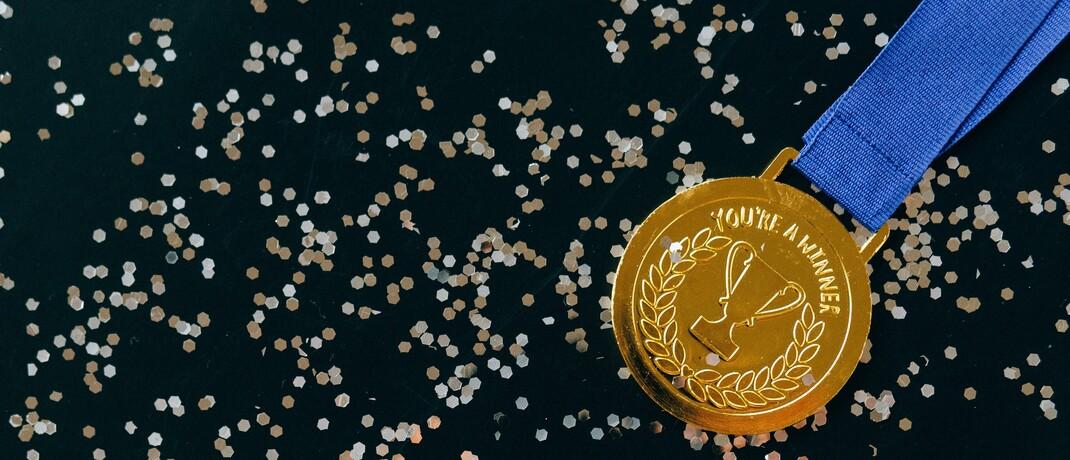 Eine Goldmedaille