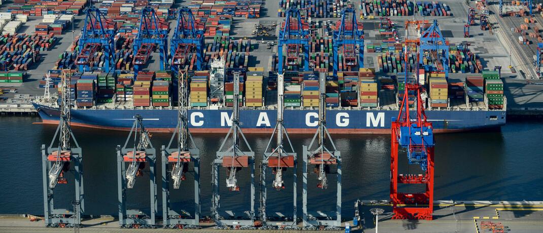 Containerschiff der französischen Reederei CMA CGM