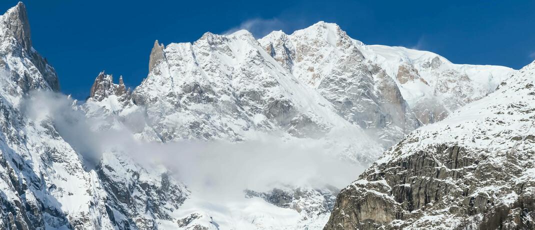 Gipfel des Montblanc, höchster Berg der (französischen) Alpen