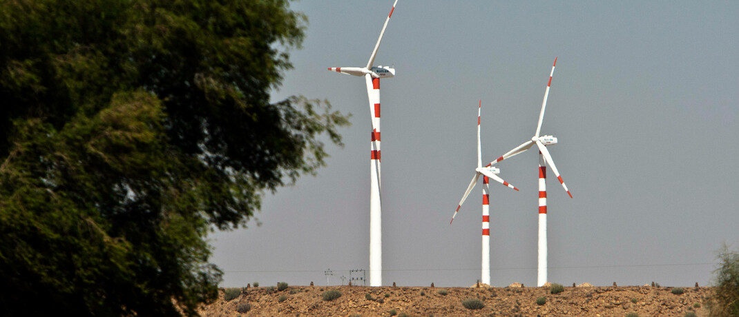 Windräder in Indien