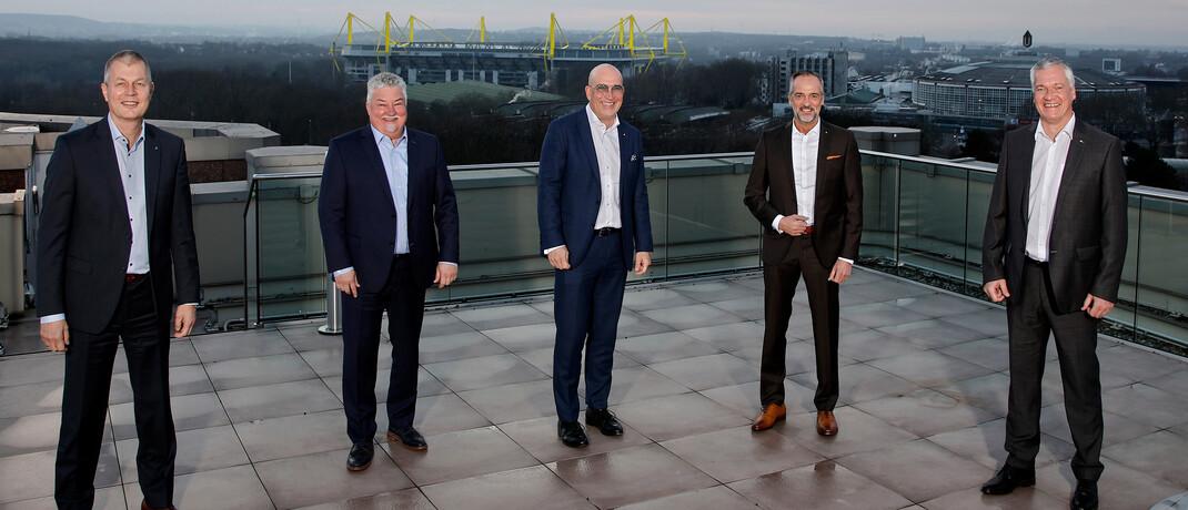 Die Chefs des Maklervertriebs bei Signal Iduna (v.l.)