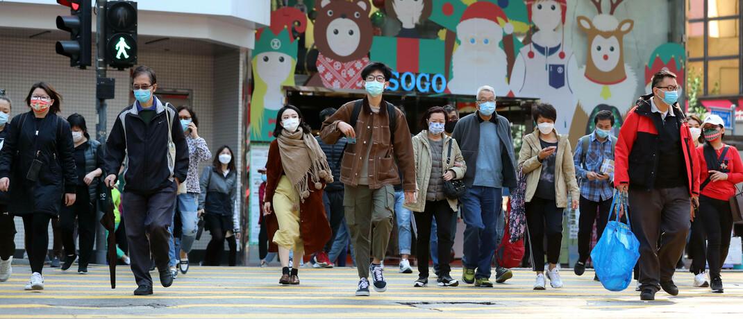 Straßenszene in Hongkong