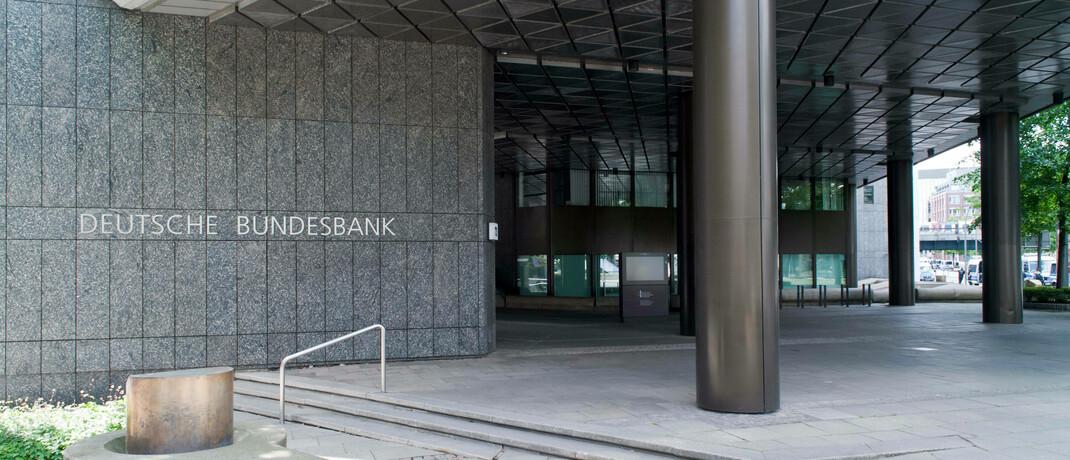 Eingang zum Sitz der Bundesbank