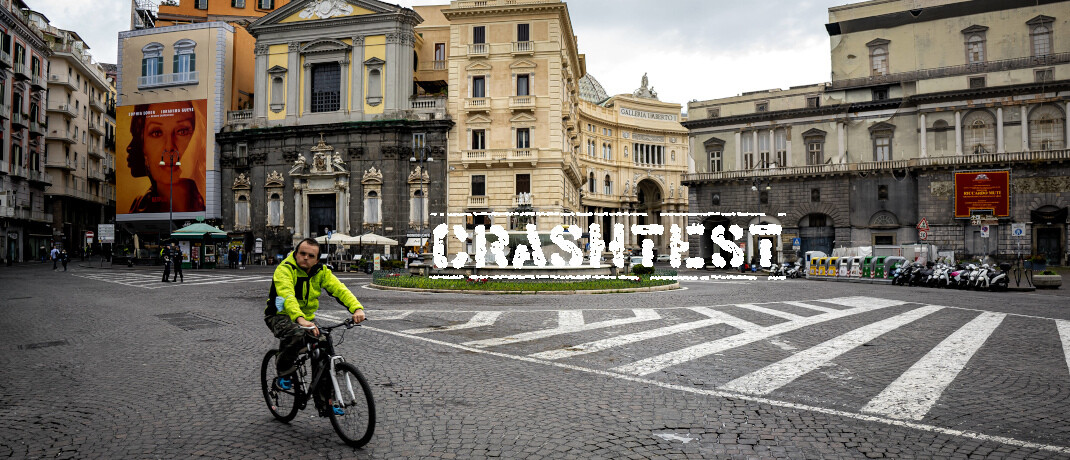 Leere Straßen während des Lockdowns in Neapel