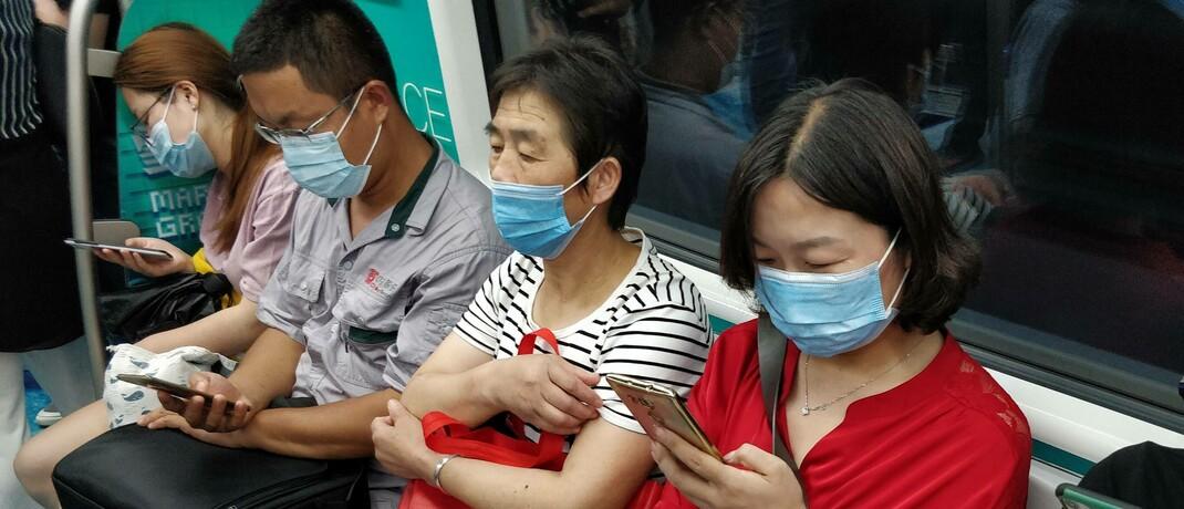 In einer U-Bahn der 8-Millionen-Einwohner-Stadt Hefei in China