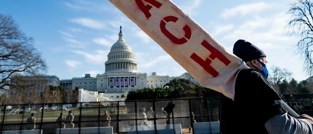 Anti-Trump-Protest vor dem Kapitol in Washington