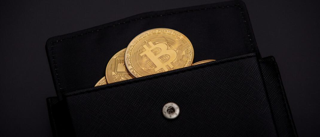Symbolische Bitcoin-Münzen