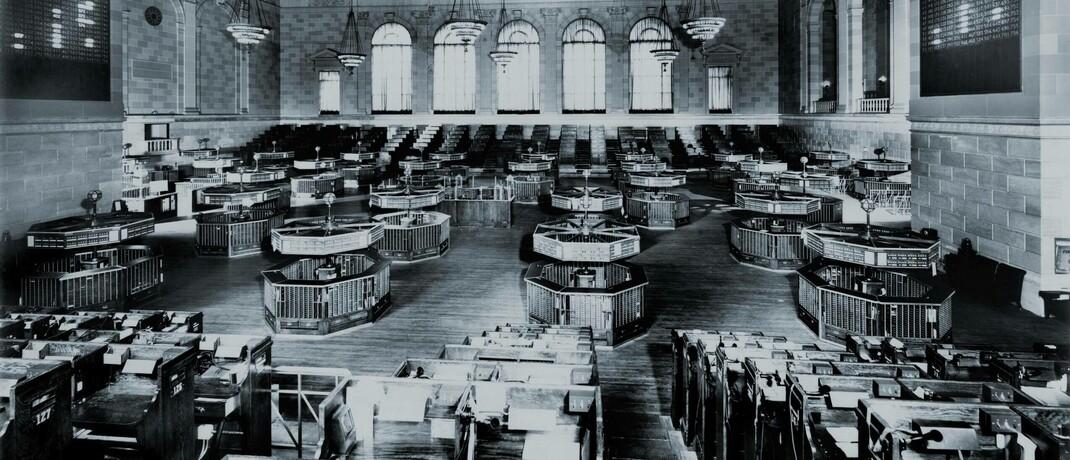 Handelssaal der New Yorker Börse 1931