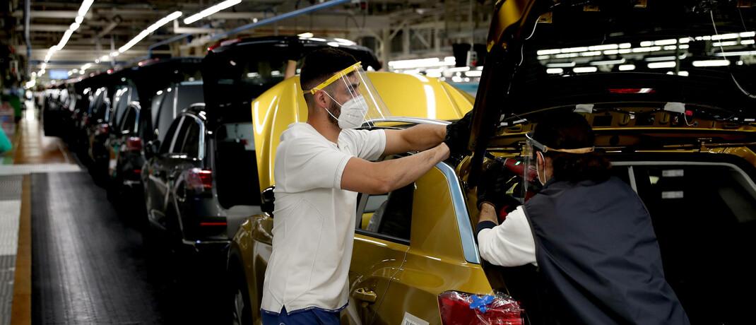 Produktionsstraße von Volkswagen