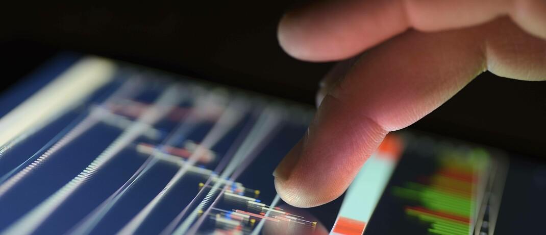 Börsenchart auf einem Tablet