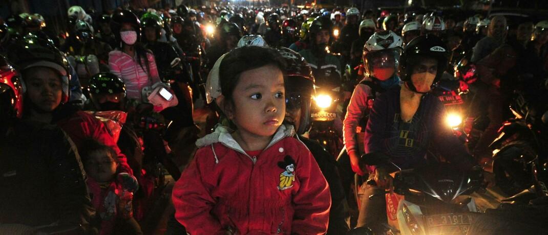 Feierabendverkehr in Jakarta, Indonesien