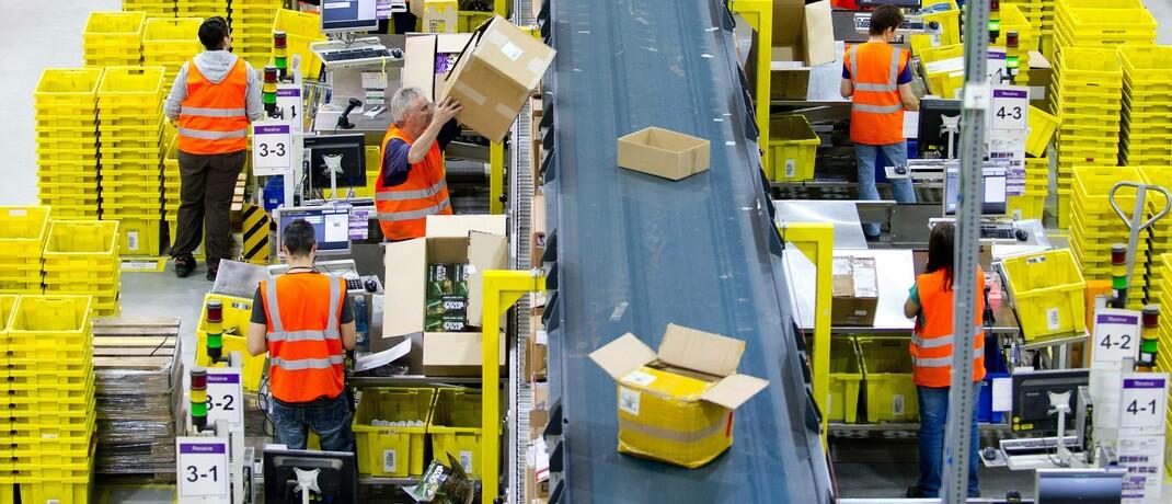 Logistikzentrum von Amazon in Leipzig