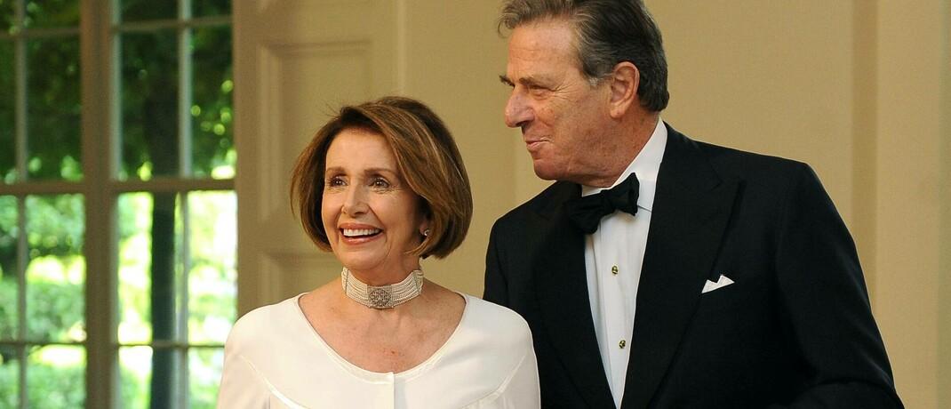 Vorsitzende des US-Repräsentantenhauses Nancy Pelosi und ihr Ehemann