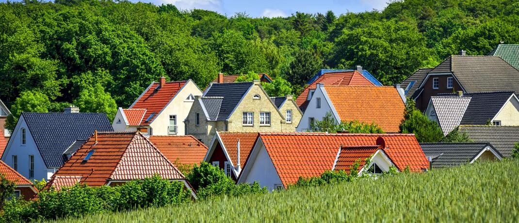 Neubausiedlung in Klingberg, Schleswig-Holstein